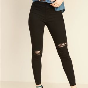 Old Navy distressed pull-on jegging